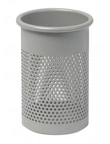 Portalápices metálico perforado color plata