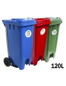 Industrial container with pedal 120 Liters (6 models)
