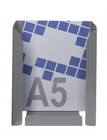 Expositor porta folletos metálico A5V de gran capacidad