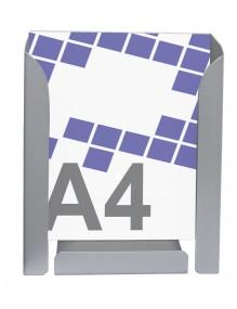 Expositor porta folletos metálico A4V de gran capacidad