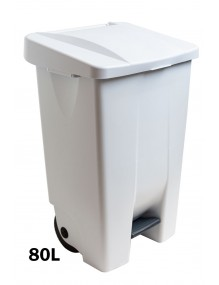 Container with pedal - 80 Liters (White)
