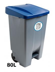 80 liter container with pedal (Label)