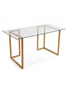 Desk with glass board