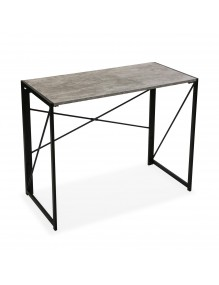 Mesa de escritorio plegable. Modelo Gris Industrial