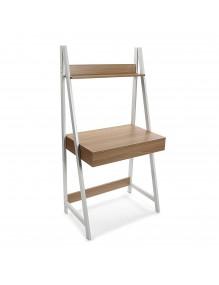 Mesa de escritorio con 1 cajón y 1 estante (Blanco)