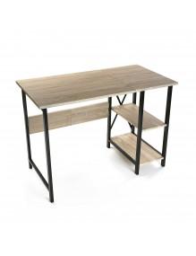 Mesa de escritorio plegable (2 estantes)