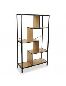 Estantería o librería metálica con 4 estantes