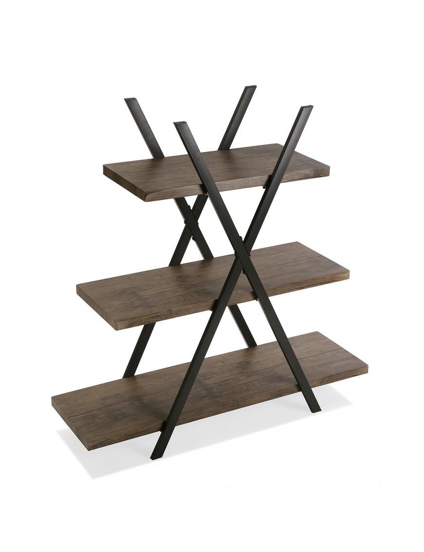 Metal shelf or bookcase with 3 shelves. Color Black
