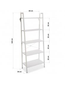 Metal shelf with 5 wooden shelves. Model Milano