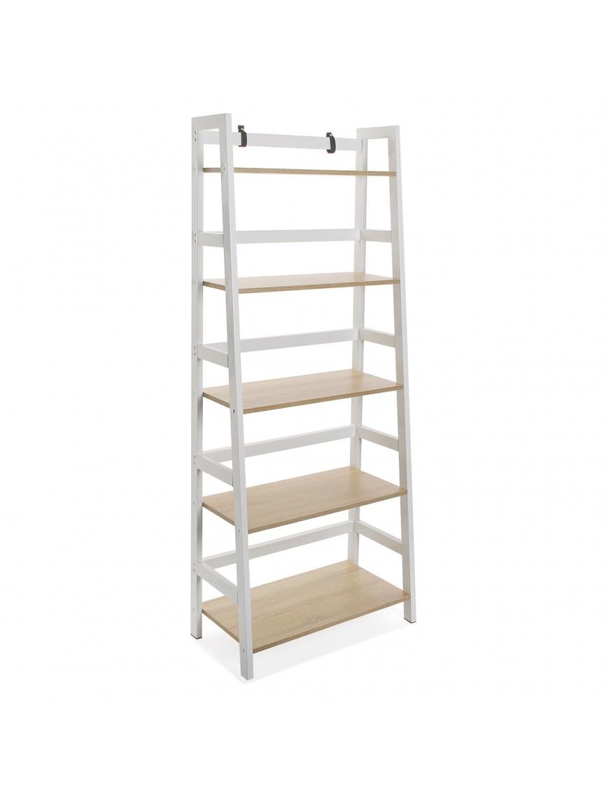 Metal shelf with 5 wooden shelves. Tokyo model