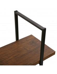 Metal shelf with 4 wooden shelves (Black)