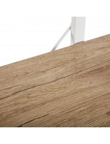 Metal shelf with 3 wooden shelves (XL)