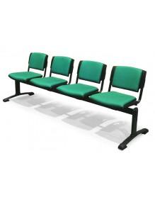 Bancada de 4 asientos tapizados