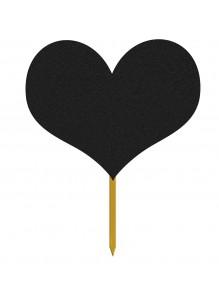 Porte-affiches avec surface à craie - Coeur
