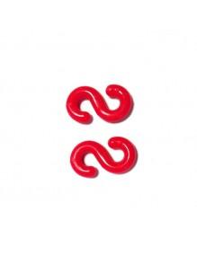 Anschlusshaken für Kunststoffkette von 6 mm.