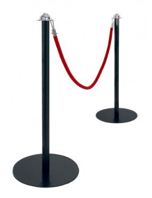 ROPE BARRIER POSTS - Black