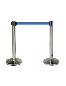 Dos postes separadores en acero inoxidable con cinta de 2 metros
