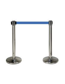Two stainless steel separator posts with 2m tape