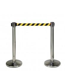 Dos postes separadores en acero inoxidable con cinta de 3 metros