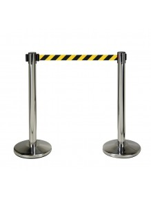Two stainless steel separator posts with 3m tape