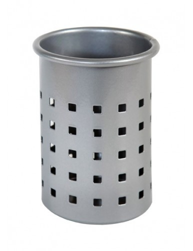 Pencil holder (Silver - square perforation)