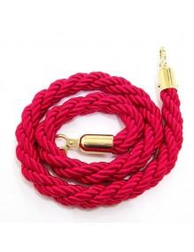 Cordón trenzado de 2,5 metros para poste separador de cordón (dorado)