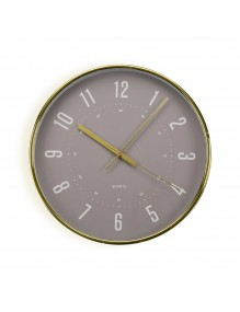 Gold plastic wall clock with a diameter of 30 cm