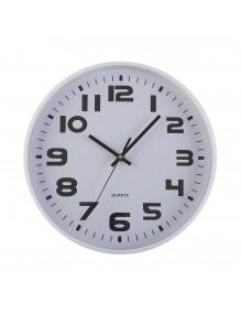 Reloj de pared metálico en color blanco de 30 cm de diámetro - Metal