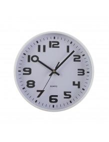 Reloj de pared metálico en color blanco de 25 cm de diámetro - Metal