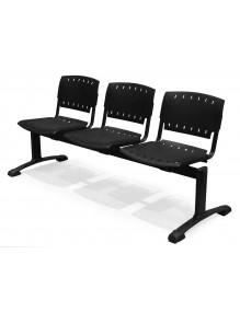 Bancada de 3 asientos poliamida