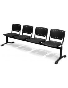 Bancada de 4 asientos poliamida
