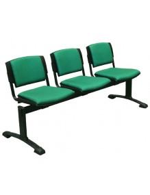 Bancada de 3 asientos tapizados