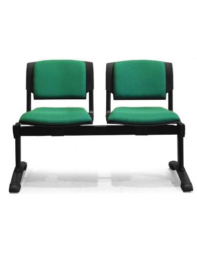 Bancada de 2 asientos tapizados