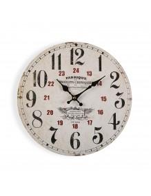 Reloj de pared de madera de 29 cm de diámetro