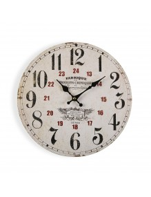 Wooden wall clock with a diameter of 29 cm
