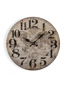 """Wall clock with a diameter of 29 cm, model """"World"""""""