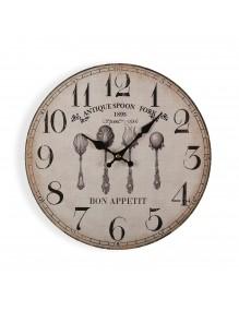 "Reloj de pared de 29 cm de diámetro modelo ""Bon Appetit"""