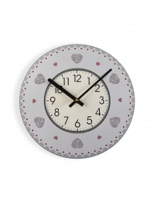 """Wall clock with a diameter of 29 cm, model """"Love"""""""