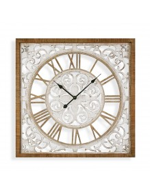 Wooden wall clock with a diameter of 80 cm