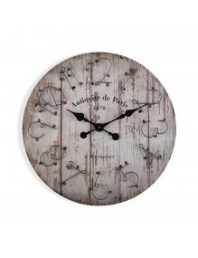"""Reloj de pared de madera de 60 cm de diámetro, modelo """"Paris"""""""