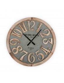 """Reloj de pared de madera y metal de 60 cm de diámetro, modelo """"Grand Hotel"""""""