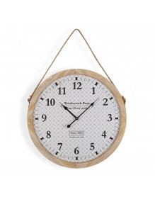 "Reloj de pared de madera y metal de 53 cm de diámetro, modelo ""London"""