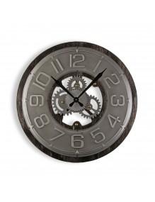 """Reloj de pared de madera y metal de 58 cm de diámetro, modelo """"MDF"""""""