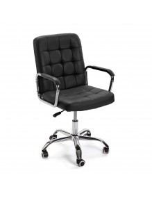 """Height-adjustable office chair in black, model """"ECO"""""""
