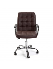 """Height-adjustable office chair in brown, model """"ECO"""""""