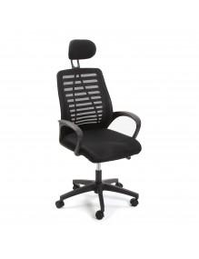"Height-adjustable office chair in black, model ""ECOPLUS"""