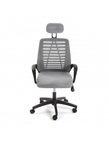 """Height-adjustable office chair in gray, model """"ECOPLUS"""""""