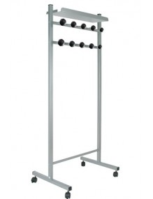 MOVEABLE COAT RACK with black ABS hooks