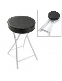 Folding bathroom stool in black