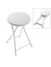 Folding bathroom stool in white - ECO